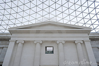 The Great Court in the British Museum in London Editorial Photo