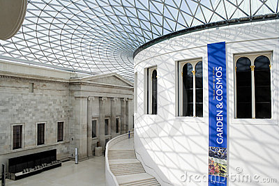 The Great Court in the British Museum in London Editorial Image