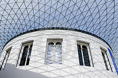 The Great Court in the British Museum in London Editorial Stock Photo