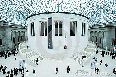 The Great Court at the British Museum in London Editorial Photography
