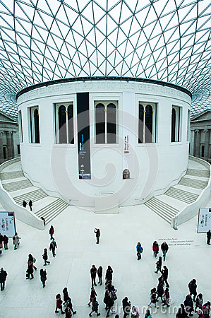 The Great Court at the British Museum in London Editorial Stock Photo