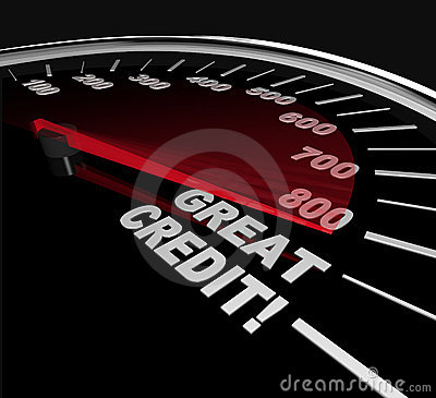 Great Credit Scores - Numbers on Speedometer
