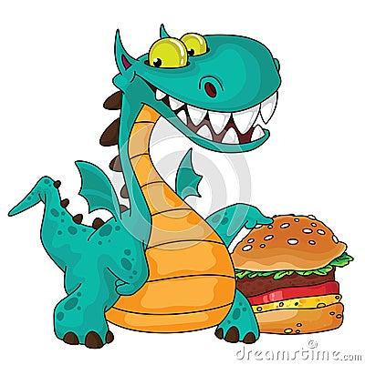 Great dragon and burger