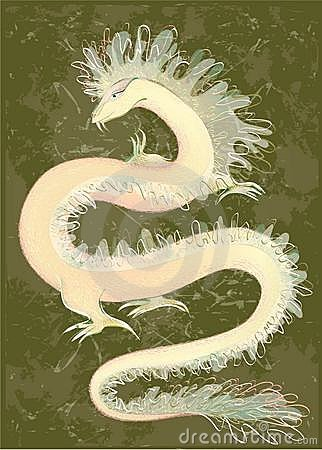 Great Dragon color. Illustration of the Chinese dr