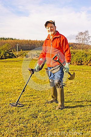 Free Great Expectations: Metal Detecting Stock Photography - 29286282