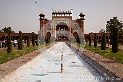 The Great Gate entrance to the Taj Mahal Editorial Photography