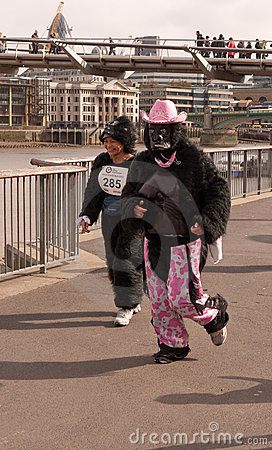 The Great Gorilla Run Editorial Stock Photo