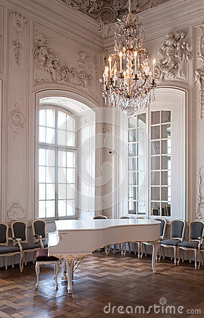 Great hall ballroom in Rundale palace