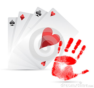 Great hand playing cards concept