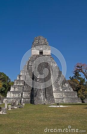 Great Jaguar Temple (Temple I) in Tikal Peten