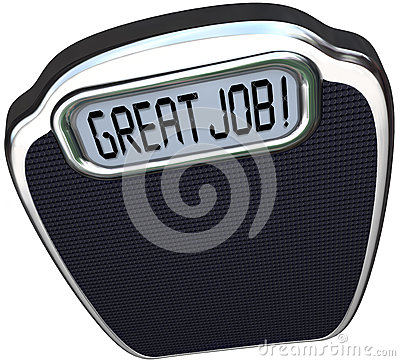 Free Great Job Praise Congratulations Reach Diet Weight Loss Goal Scale Royalty Free Stock Photography - 40819547