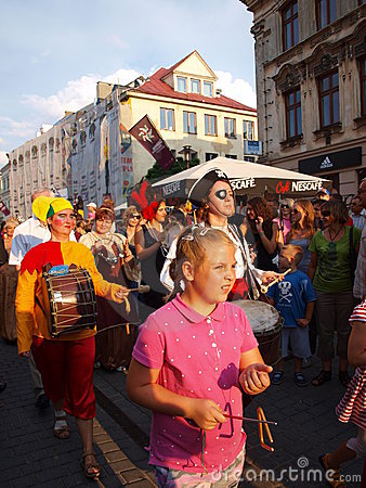 Great Juggling Parade, Lublin, Poland Editorial Photo
