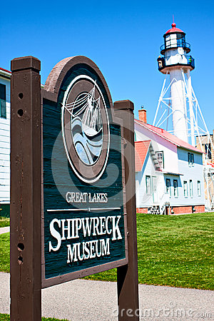 Great Lakes Shipwreck Museum and Whitefish Point Lighthouse Editorial Photography