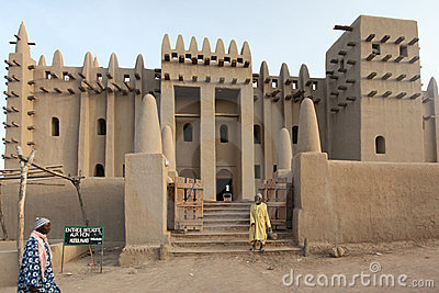 Great mosque of Djenne, Mali Editorial Stock Image