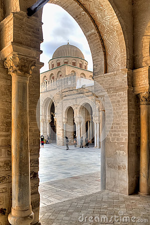 Great Mosque in Kairouan Editorial Stock Photo