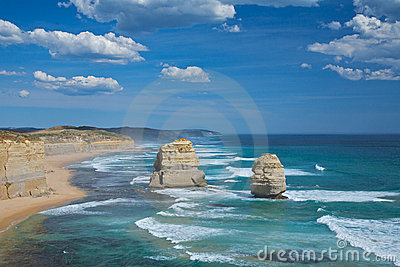 Great ocean road, twelve Apostles Scenic view