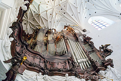 Great organ of Oliwa Archcathedral in Gdansk Editorial Photography