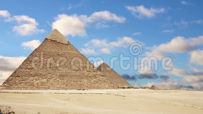 Great Pyramids of Giza. Cairo. Egypt. Time Lapse. 4k stock video footage