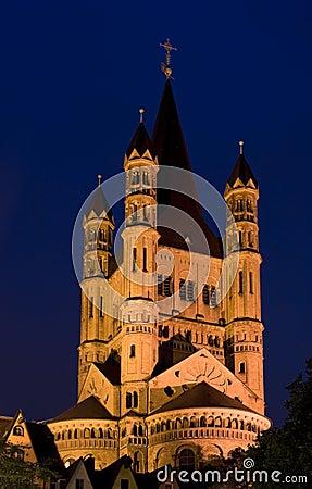 Great Saint Martin Basilica in Cologne