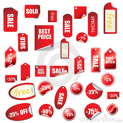 Great sales tags and stickers collection
