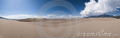 Great sand dunes panoramic view