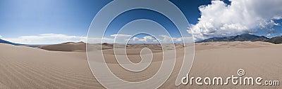 Great sand dunes panoramic view