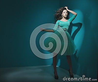 Great shot of delicate brunette woman