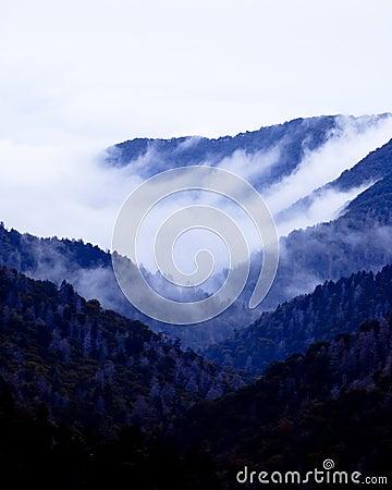 Free Great Smoky Mountains At Twilight Royalty Free Stock Photos - 21352158
