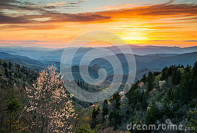 Great Smoky Mountains National Park Cherokee North Carolina Scen Stock Photo