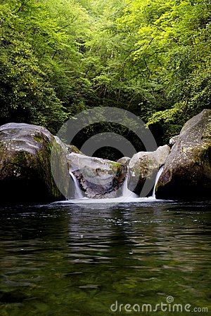 Free Great Smoky Mountains National Park Midnight Hole Falls Stock Photography - 47941802