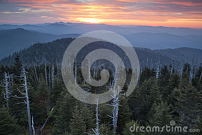 Great Smoky Mountains National Park Sunrise.