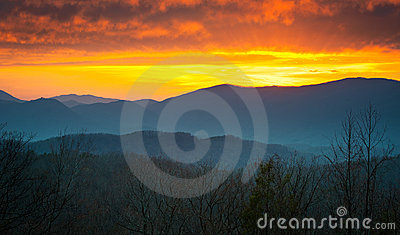 Great Smoky Mountains National Park Sunset