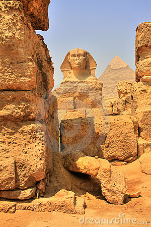 Great Sphinx and Khafre Pyramid