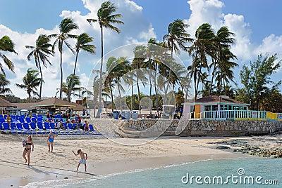 Great Stirrup Cay, Bahamas Editorial Stock Photo