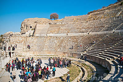 Great theatre in Ephesus Editorial Image