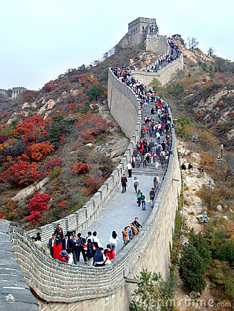 Great Wall in the Autumn Editorial Stock Image