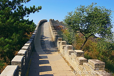 The great wall in Chengde Imperial Summer Resort