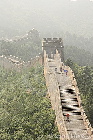 The Great Wall of China in a haze Editorial Image