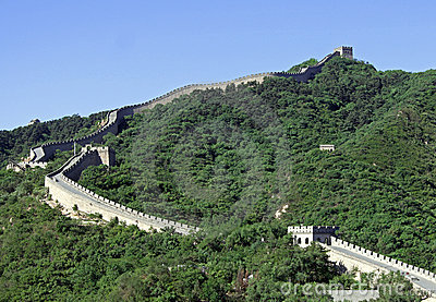Great Wall of China, section in Badaling. Beijing.