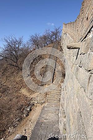 Great wall of china sideview mutianyu beijing