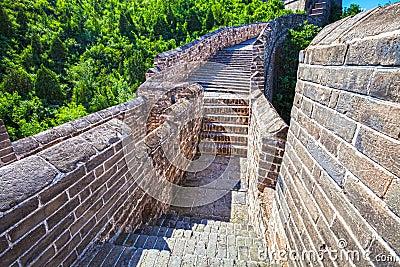 Great Wall of China at Sunny Day