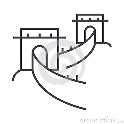 Free Great Wall,china Vector Line Icon, Sign, Illustration On Background, Editable Strokes Stock Images - 101060684