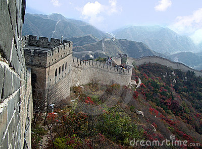Great Wall close up in the Autumn