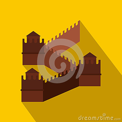 Free Great Wall Of China Icon, Flat Style Royalty Free Stock Photography - 79590547