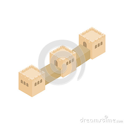 Free Great Wall Of China Icon, Isometric 3d Style Royalty Free Stock Photos - 79576138