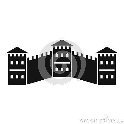 Free Great Wall Of China Icon, Simple Style Stock Photos - 85162343