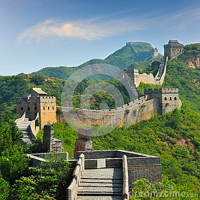 Free Great Wall Of China In Summer Stock Photo - 29046570