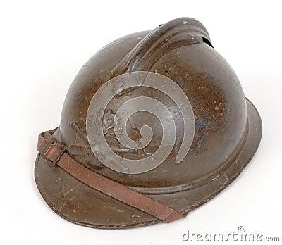 WW1 Great War French steel helmet