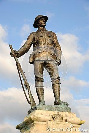 Great War soldier memorial