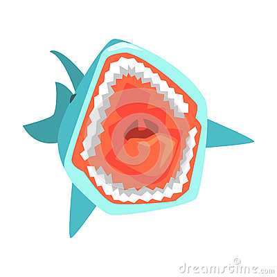 Free Great White Shark Marine Fish Living In Warm Sea Waters Cartoon Character Vector Illustrations Stock Image - 90565541
